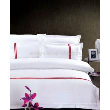 2015 nuevo algodón del producto del algodón del bordado del hotel que cubre el sistema del lecho de la cubierta