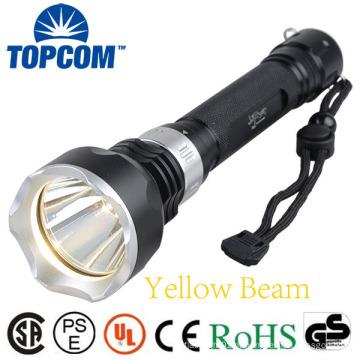 1000lumen T6 Lâmpada LED Submarino Mergulho Lanterna Amarelo feixe Underwater Torch