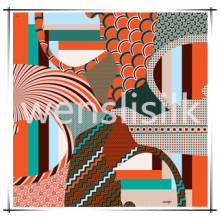 Silk Scarf (201474) with Dragon Pattern