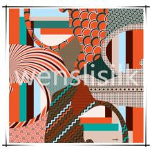 Lenço de seda (201474), com padrão de dragão