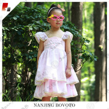 JannyBB frilled frock designs pink stripe dress