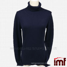 Turtle Neck Knitted Cashmere Sweater