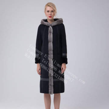 Long Australia Merino Shearling Coat For Women