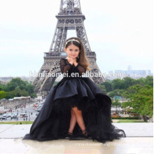 black color baby girl wedding dress lace kids flower girl dress for wedding