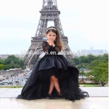 черный цвет детские девушки свадебное платье кружева детские девушки цветка платье для свадьбы