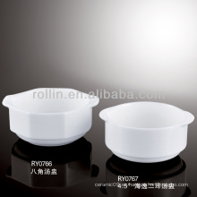 Vasos de sopa occidental de porcelana china china fina