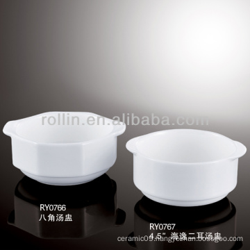 fine chinese white porcelain western soup bowls
