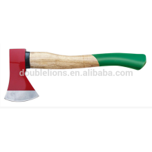 DOUBLE FACE AX E WITH WOOD HANDLE