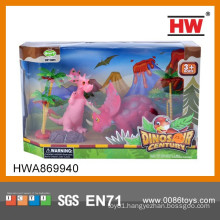 Funny Plastic Soft Rubber Animal Set Dinosaur Toy Set