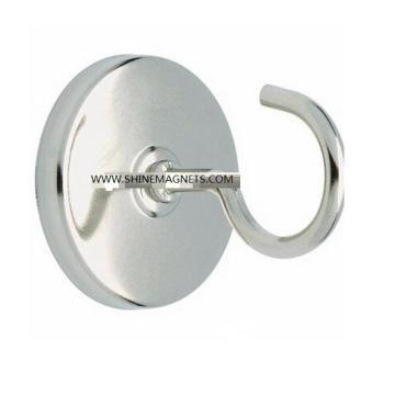 Round Base Neodymium Magnetic Hook with Ni Coated Pot Magnet