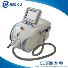 Máquina portátil Elight + ND YAG Laser A4 para remoção indolor permanente do cabelo