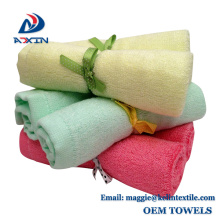 100% bamboo wash cloth set, organic bamboo baby hand towel set from China