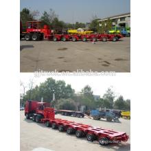 80-300t que carga el remolque modular hidráulico del árbol multi del peso
