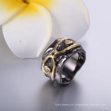 Anillo de compromiso barato del precio del diseño del anillo de oro simple de alta calidad para el partido