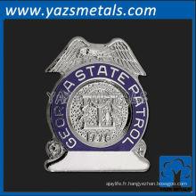 goupille en métal personnalisée, goupille de patrouille de patrouille d'état géorgienne personnalisée de haute qualité