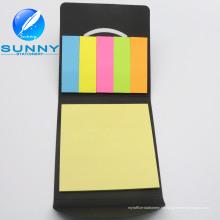 Nota adhesiva de la cubierta de cuero de la PU, cojín de notas fijado para la promoción