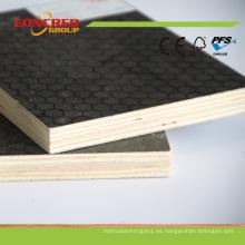 Álamo negro y marrón de contrachapado de encofrado madera contrachapada hecha frente película