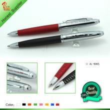 Nova caneta em metal design com couro