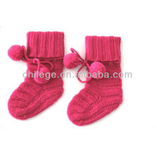 high quality pure cashmere baby knitted socks