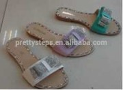 bulk buy from china latest 2015 ladies sandal rubber slipper jewelry shoes