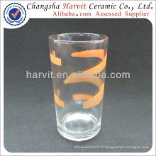 Gobelet en verre Tasses Tasses fabriquées en Chine / Verrerie en gros Chine Factory / Machine d'impression sérigraphique Glass Cup