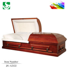 Hot sale American style standard solid wood painted casket