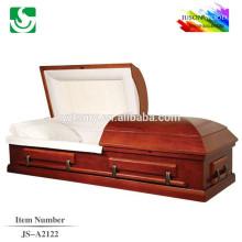 Venda quente estilo americano padrão madeira maciça pintada caixão