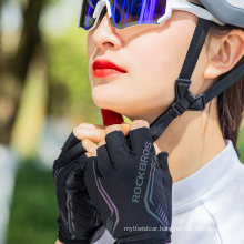 Rockbros Colorful Reflective Half-Finger Gloves Bicycle Riding Gloves