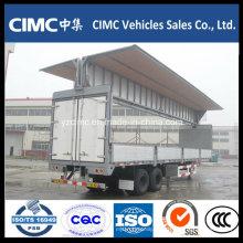 Cimc 2 Axle Wing Opening Cargo Trailer