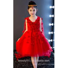 girl denim dress flower girl dress scoop neckline sleeveless baby dresses ED755