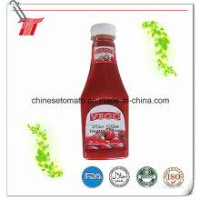 340g de ketchup à la tomate avec un pichet de bouteille en plastique