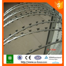 Alibaba galvanized razor barbed wire Concertina wire coil /used barbed wire for sale