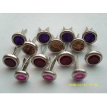 Perles de griffe colorées en métal de haute qualité