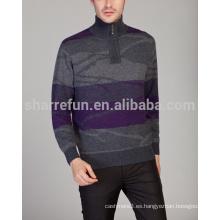 estilo al por mayor de muchos estilos invierno cálido media cremallera 100% puro mens cashmere jumper