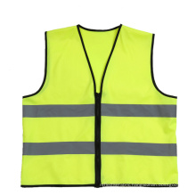 Safety reflective vest zipper simple style customizable