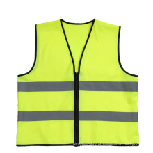 Estilo simples reflexivo do zipper da veste da segurança customizável