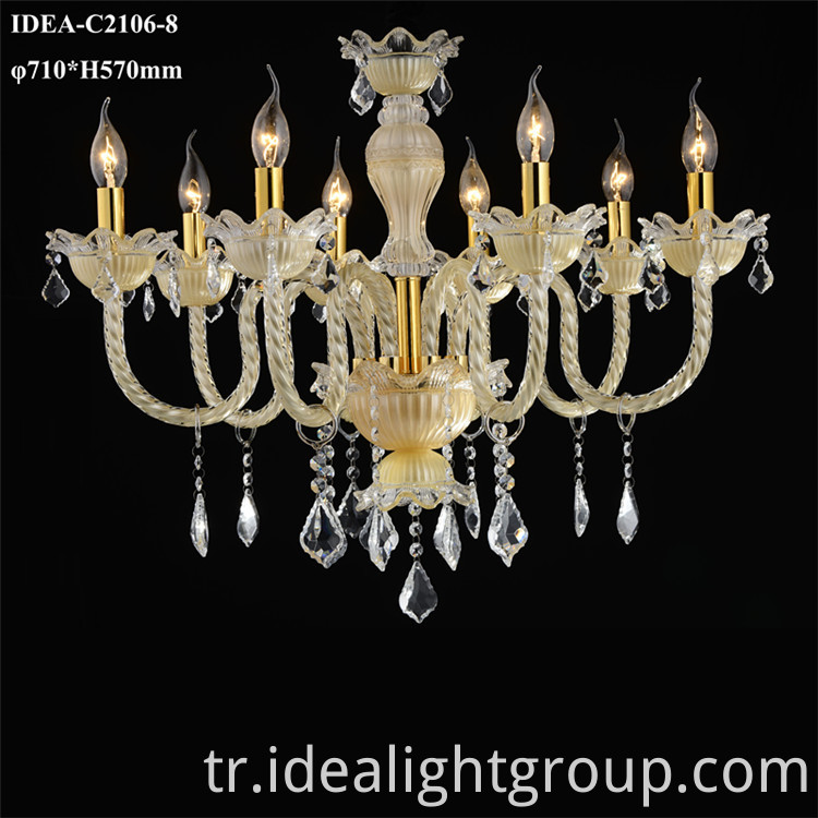 chandelier lighting glass