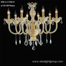 glass crystal lighting chandelier candle lighting