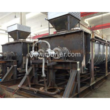 Condition Flour Animal Manure Rotary Double Shaft Air Hallow Blade Dryer