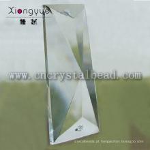 forma de triângulo irregular de cristal para lustre pingentes