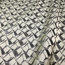 Vantage Gray Black Jacquard Brocade Fabric