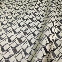 Vantage Gray Black Jacquard Brocade Fabric