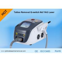 Веснушки/Подмолаживание кожи/удаление lipline/пигментные лечение/татуировки Q-Переключило лазер ND yag лазера