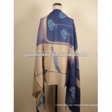 bufanda impresa sólida del nuevo 100% del cachemira del diseño