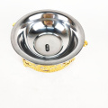 luxury gold stand stainless steel dog water bowl puppy feeding saucer