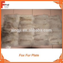 Boa qualidade Fox barriga placa placa de pele de raposa
