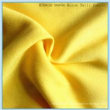 Twill Weave Viskose Rayon Stoff Lady Shirt Stoff P.