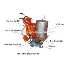 Machine thermoplastique de marquage routier de double préchauffage portative