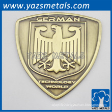 Custom made metal bike badge