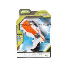 Jouet en plastique de pistolet B / O avec lumière laser clignotante